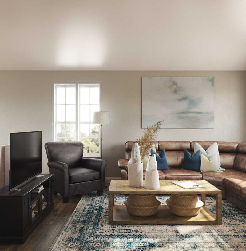 Classic, Coastal Living Room Design by Havenly Interior Designer Tracie