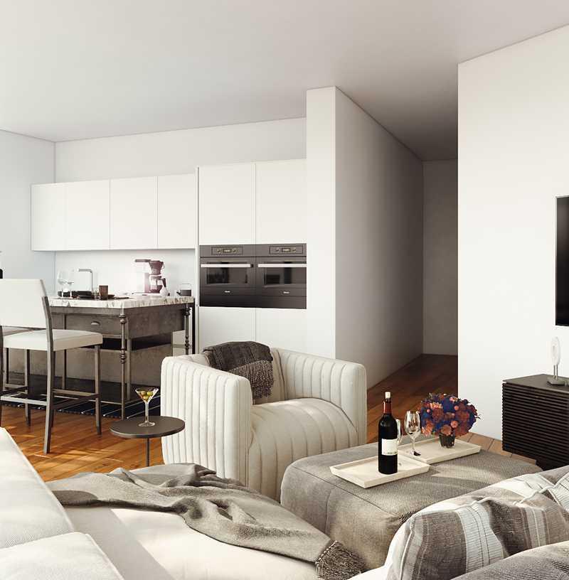 Contemporary, Midcentury Modern Living Room Design by Havenly Interior Designer Brady