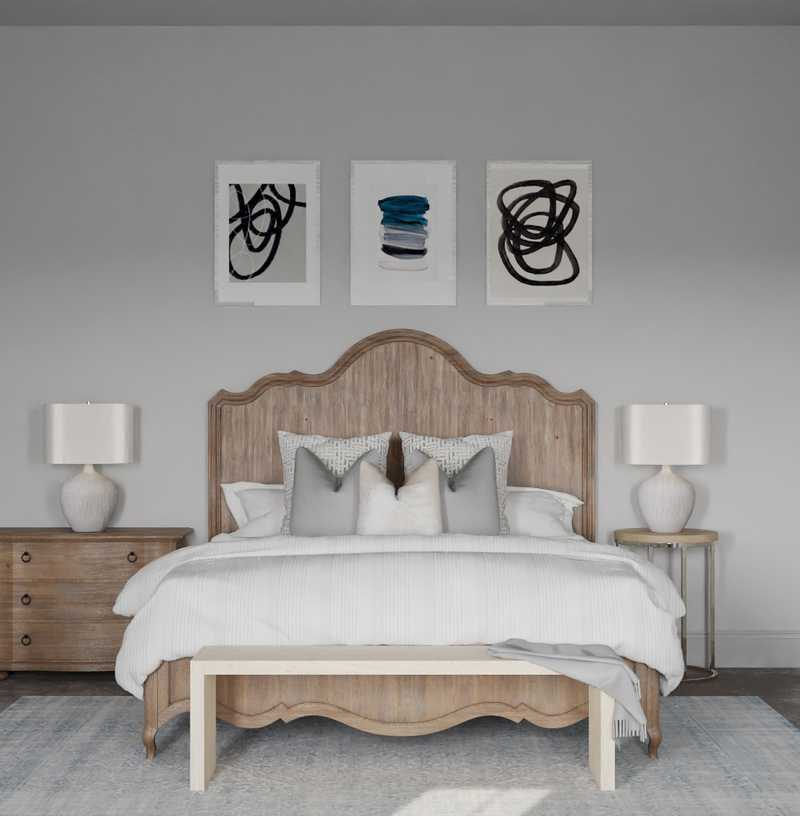 Modern, Eclectic, Coastal, Farmhouse, Rustic Bedroom Design by Havenly Interior Designer Kacey