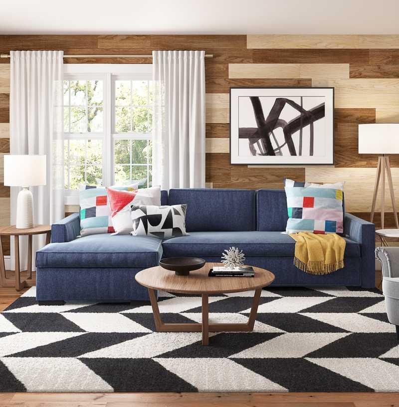 Contemporary, Modern, Midcentury Modern Living Room Design by Havenly Interior Designer Marsha