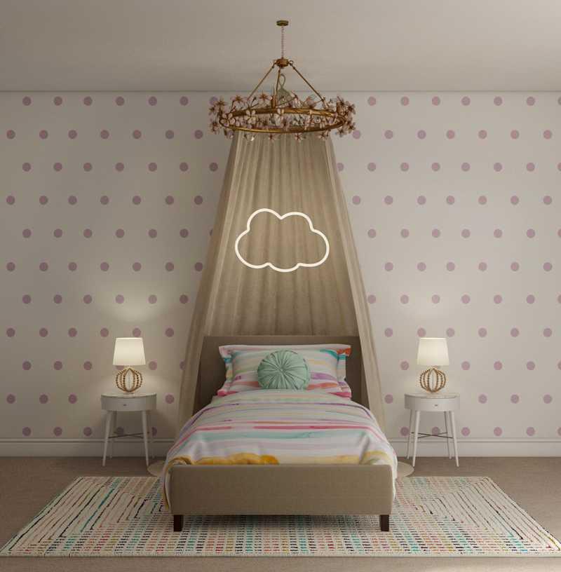 Bohemian, Glam Bedroom Design by Havenly Interior Designer Dani
