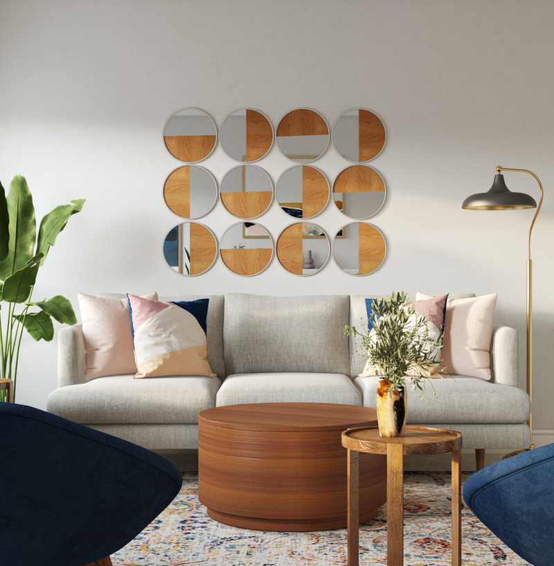 Midcentury Modern Living Room Design by Havenly Interior Designer Izzy