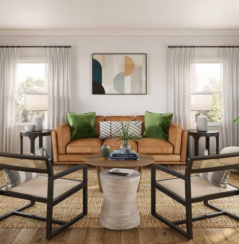 Modern, Eclectic, Farmhouse Living Room Design by Havenly Interior Designer Eliza