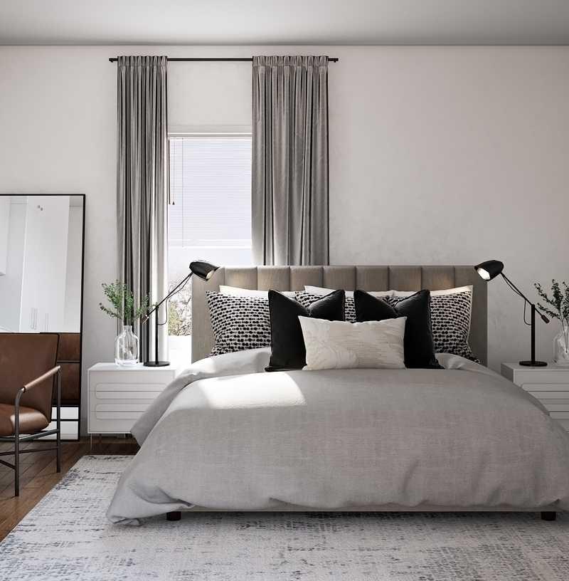 Modern, Minimal, Scandinavian Bedroom Design by Havenly Interior Designer Levi