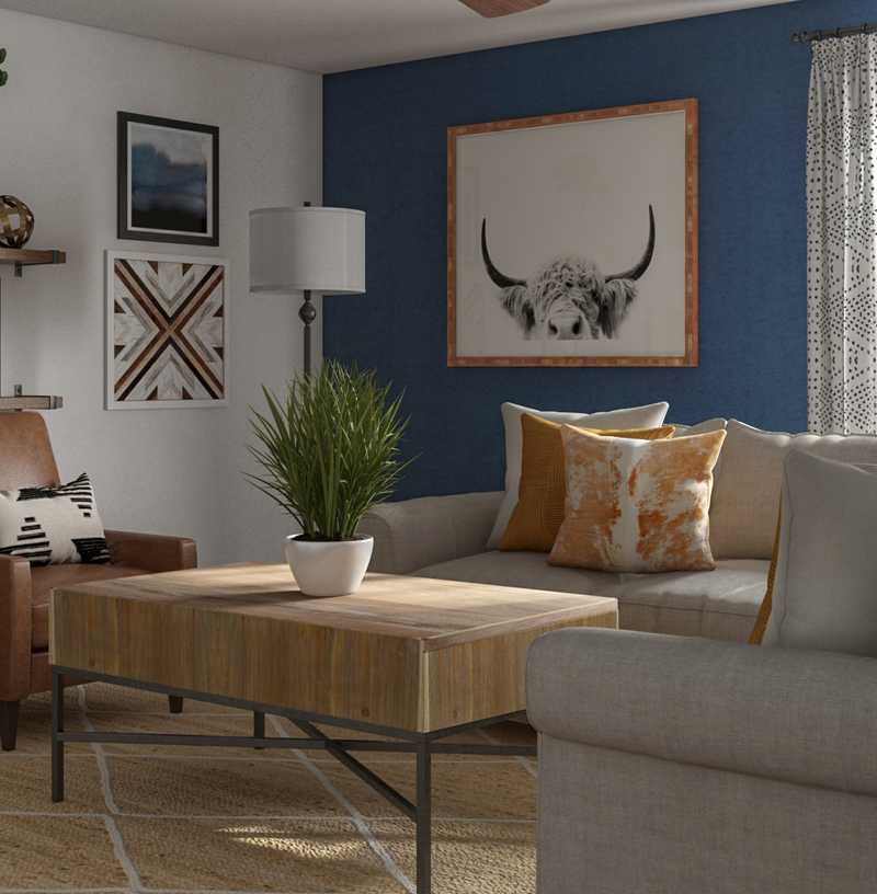 Eclectic, Farmhouse, Rustic Living Room Design by Havenly Interior Designer Monica