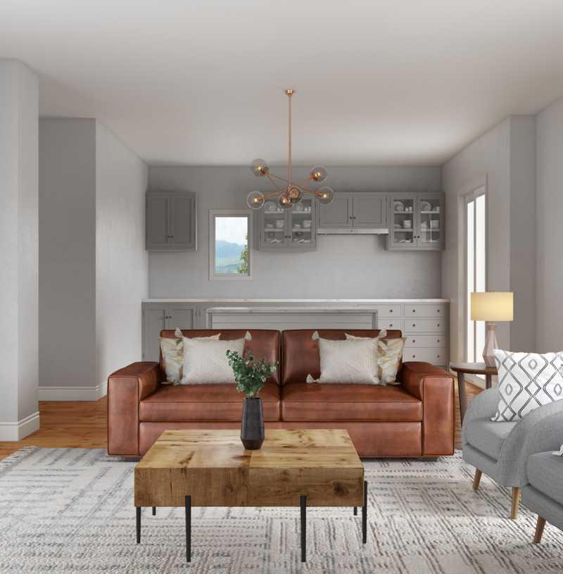 Scandinavian Living Room Design by Havenly Interior Designer Talia