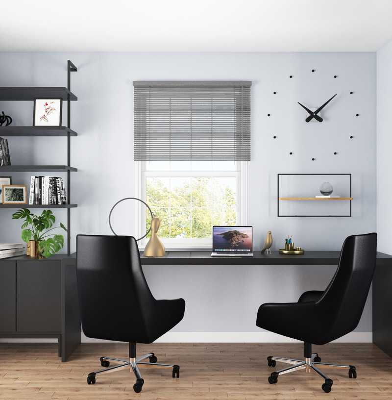 Contemporary, Modern, Industrial, Minimal, Scandinavian Office Design by Havenly Interior Designer Saba