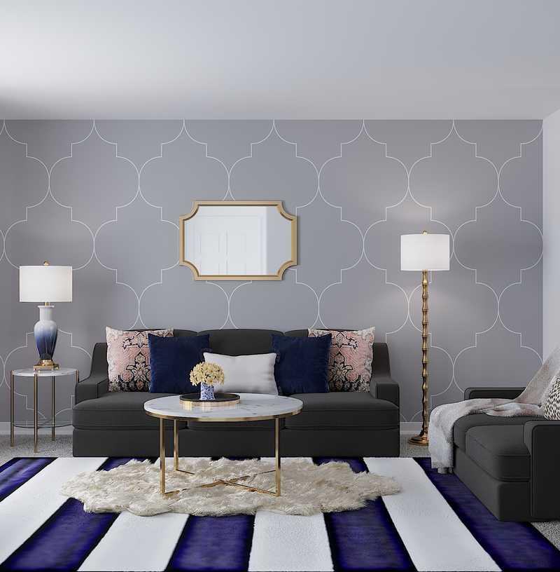 Classic, Glam Living Room Design by Havenly Interior Designer Victoria