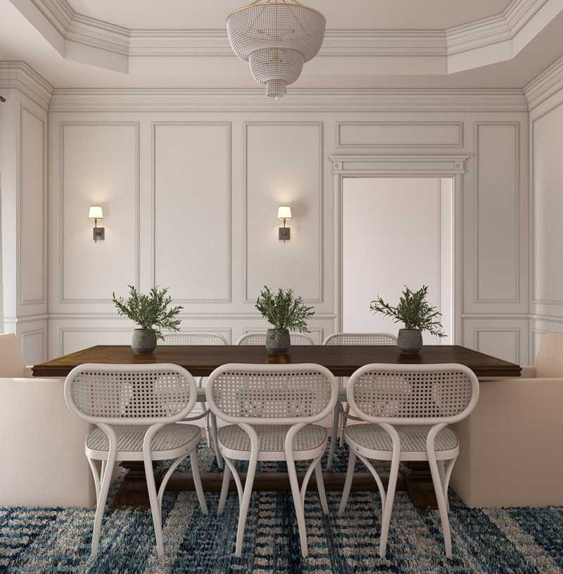 Classic, Coastal Dining Room Design by Havenly Interior Designer Sarah