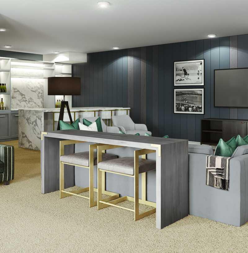 Classic, Industrial Living Room Design by Havenly Interior Designer Vivian