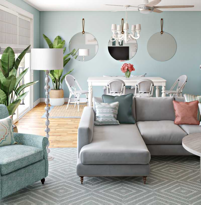Eclectic, Coastal, Traditional Other Design by Havenly Interior Designer Maria
