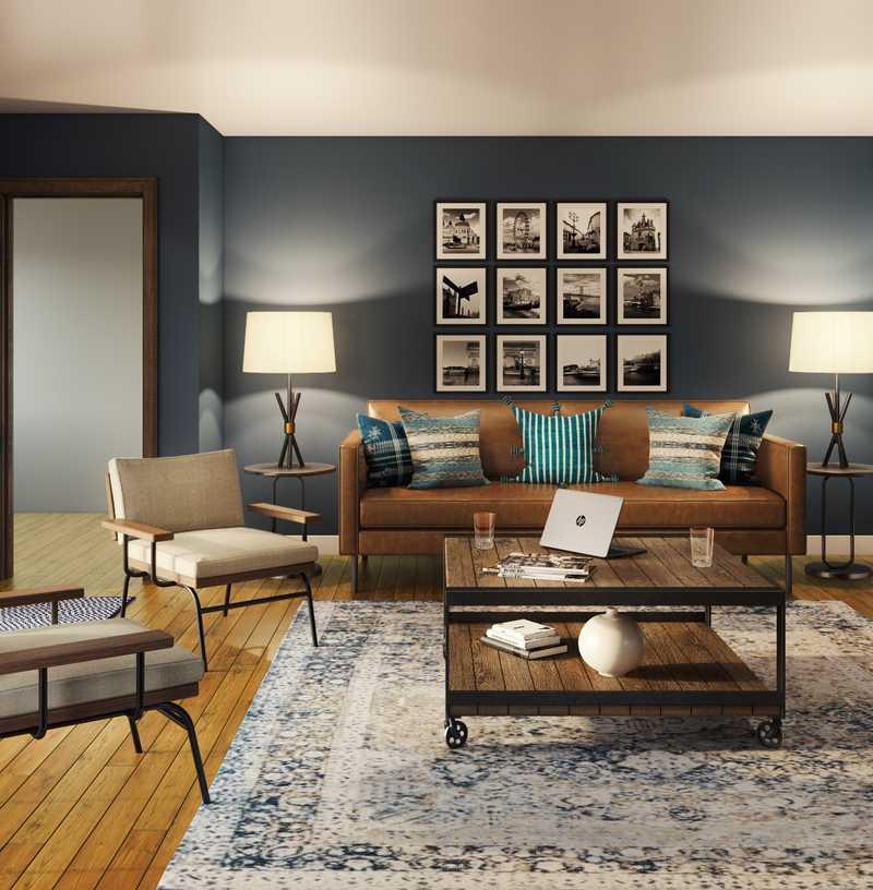 Industrial Living Room Design by Havenly Interior Designer Lauren
