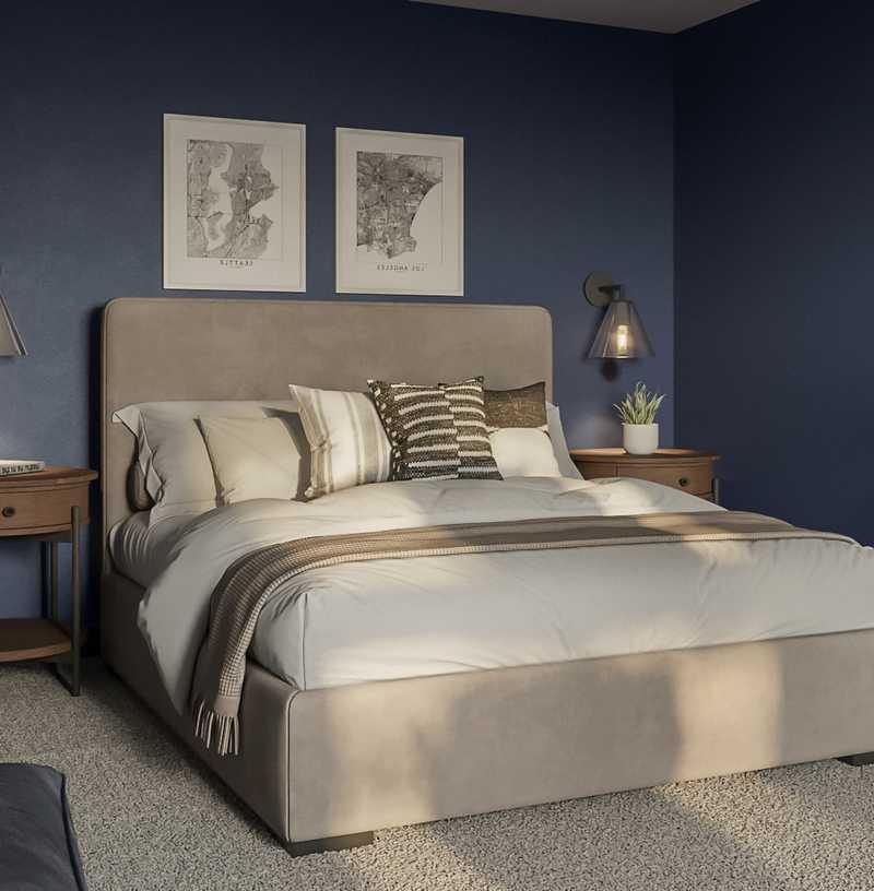 Modern, Industrial, Midcentury Modern Bedroom Design by Havenly Interior Designer Ashley