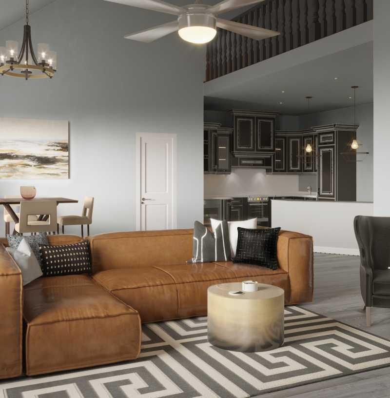 Contemporary, Modern, Glam, Transitional Living Room Design by Havenly Interior Designer Fiona
