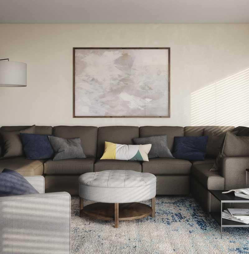 Modern Living Room Design by Havenly Interior Designer Kate