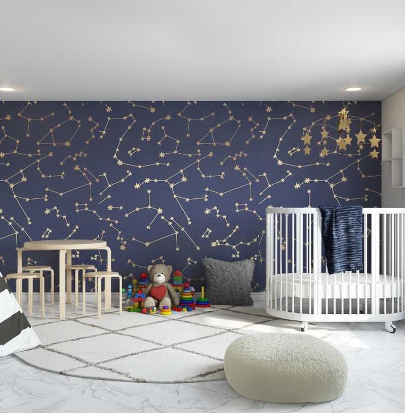 Modern, Scandinavian Nursery Design by Havenly Interior Designer Brian