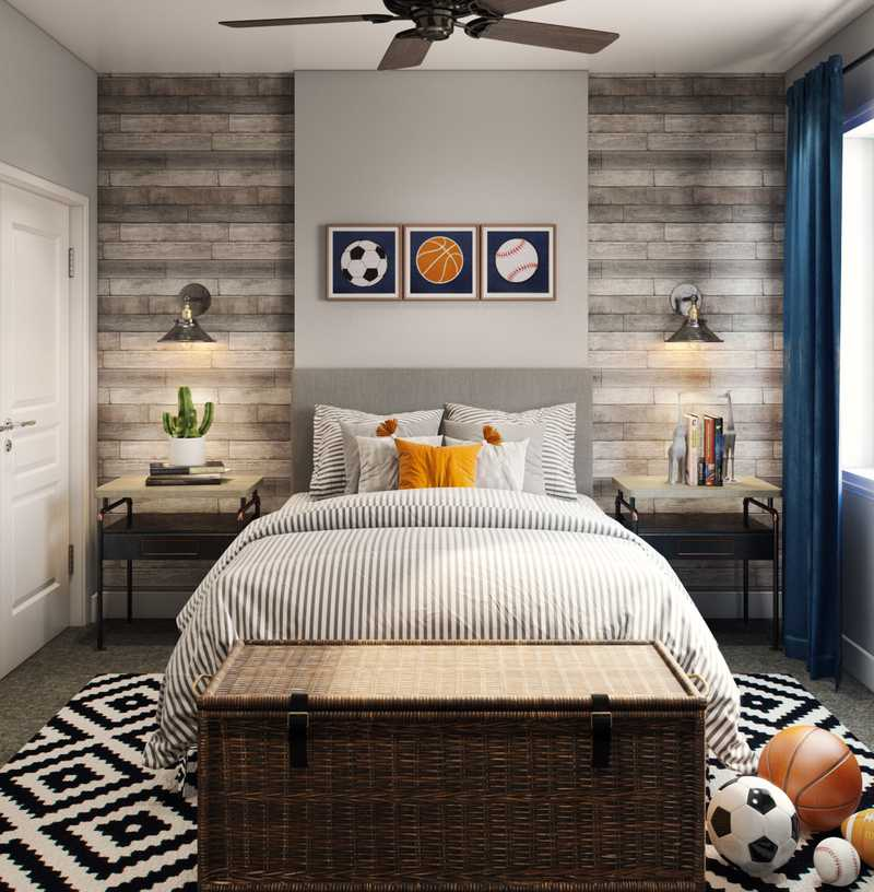 Industrial, Rustic Bedroom Design by Havenly Interior Designer Fendy