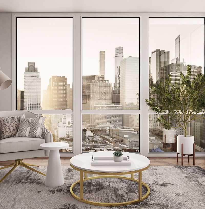 Bohemian, Transitional Living Room Design by Havenly Interior Designer Jennifer