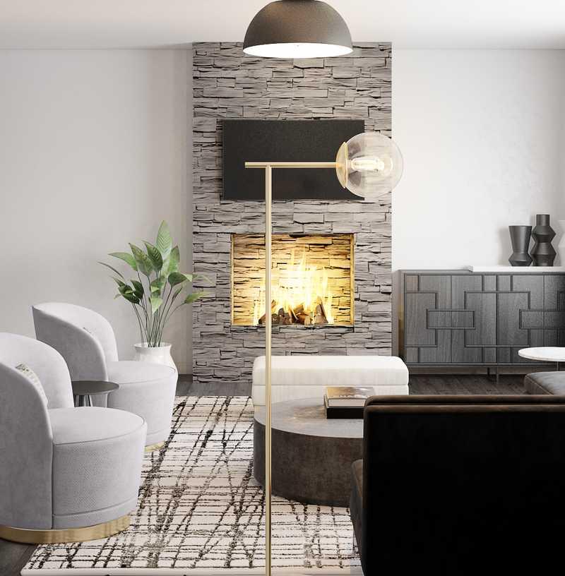 Modern, Minimal Living Room Design by Havenly Interior Designer Erin