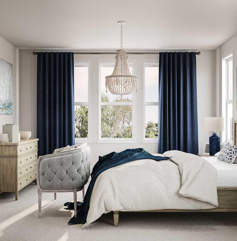 Coastal, Farmhouse Bedroom Design by Havenly Interior Designer Marty