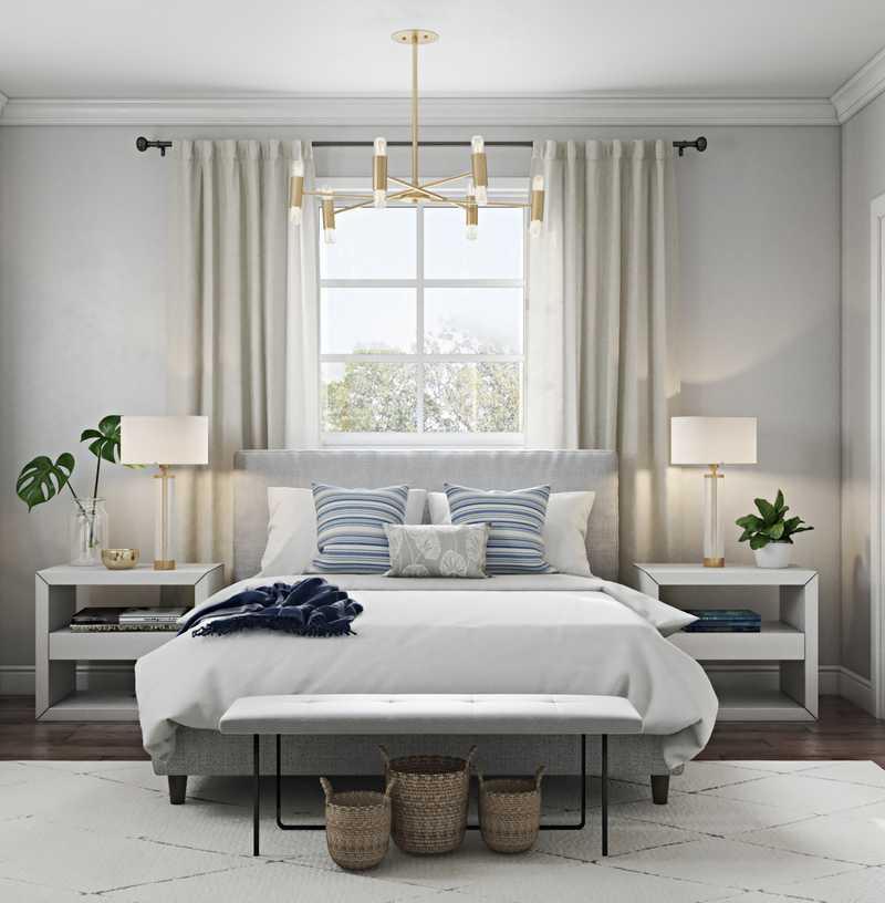 Contemporary, Coastal, Minimal Bedroom Design by Havenly Interior Designer Amanda