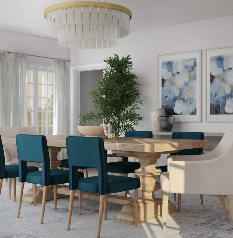 Modern, Classic, Coastal Dining Room Design by Havenly Interior Designer Shameika