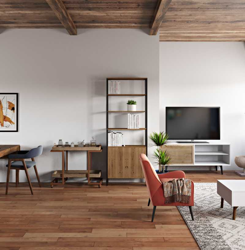 Bohemian, Industrial, Global Living Room Design by Havenly Interior Designer Nidhi