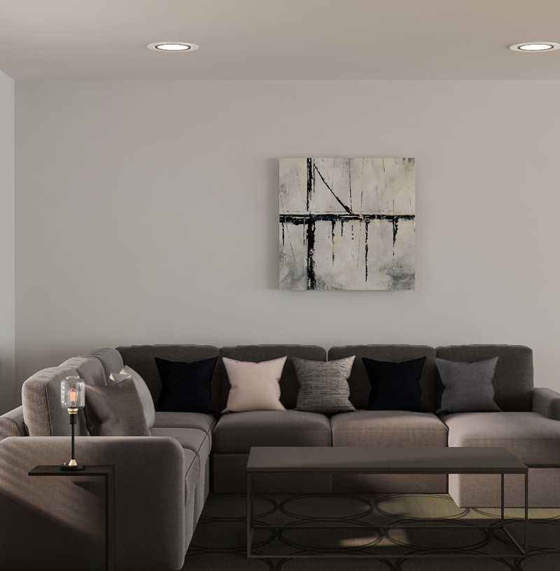 Contemporary, Modern, Glam Living Room Design by Havenly Interior Designer Sharon