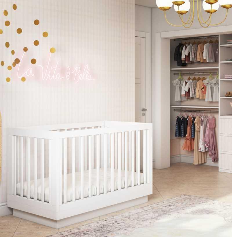 Contemporary, Modern, Eclectic Nursery Design by Havenly Interior Designer Matthew