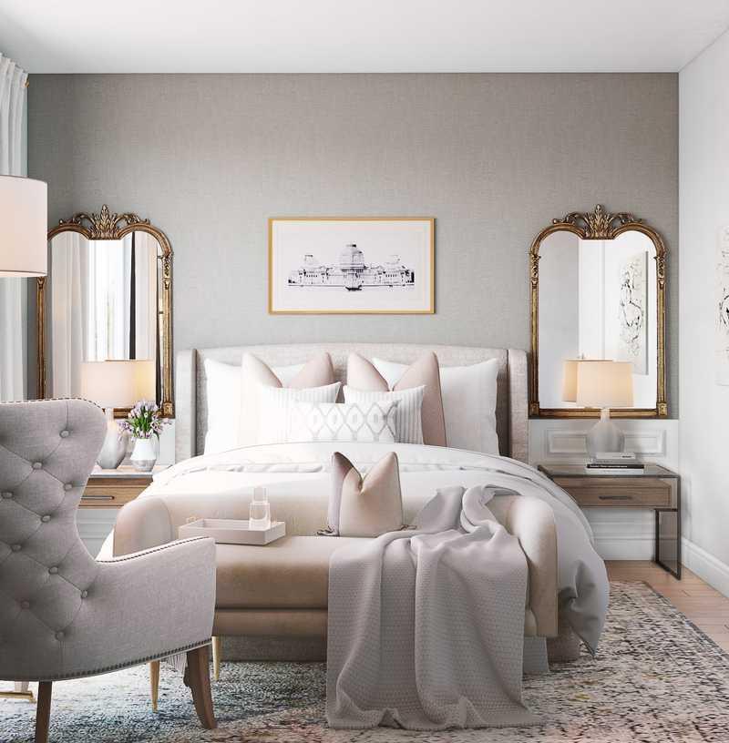 Modern, Classic, Glam Bedroom Design by Havenly Interior Designer Vivian