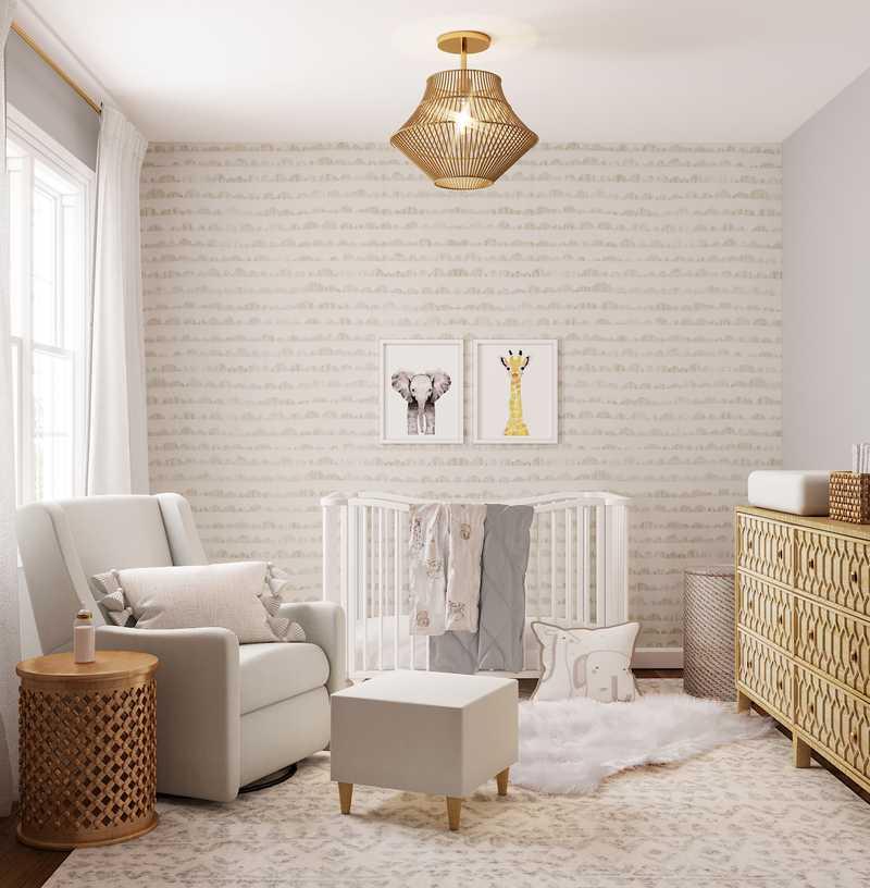 Modern, Glam, Midcentury Modern Nursery Design by Havenly Interior Designer Marsha