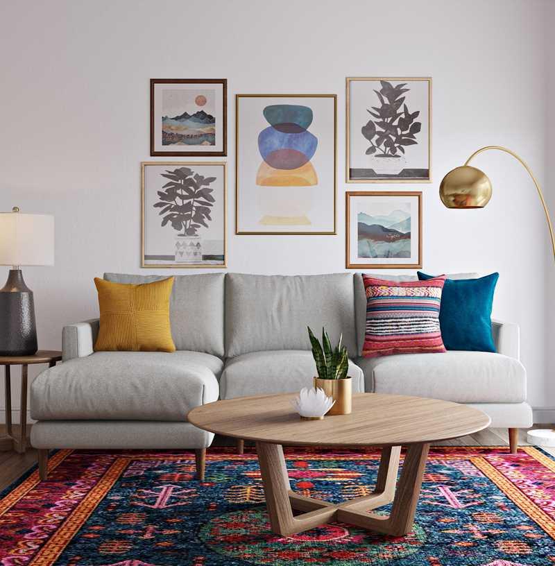 Bohemian, Global Living Room Design by Havenly Interior Designer Megan