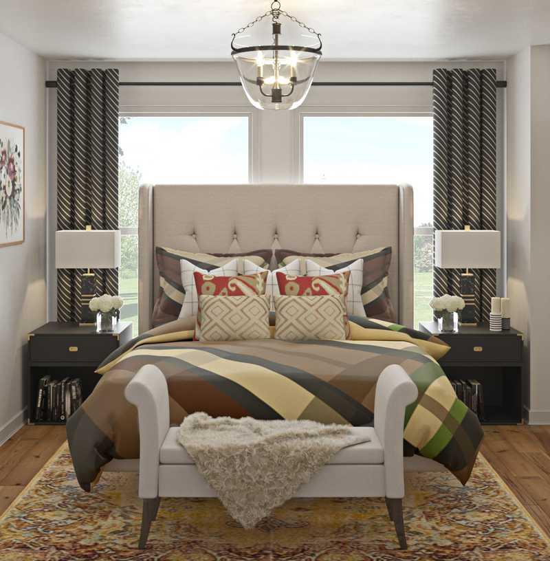 Classic, Eclectic Bedroom Design by Havenly Interior Designer Brady