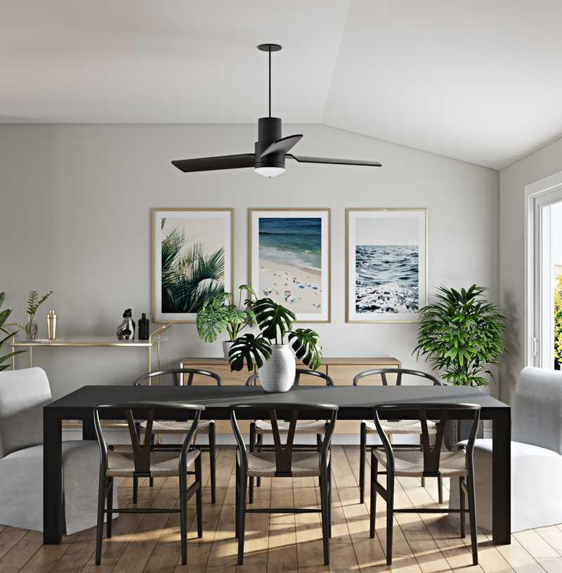 Modern, Bohemian, Coastal Dining Room Design by Havenly Interior Designer Markie