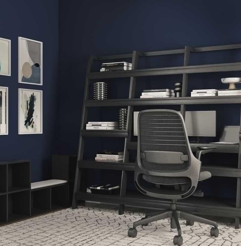 Modern, Glam Office Design by Havenly Interior Designer Carla