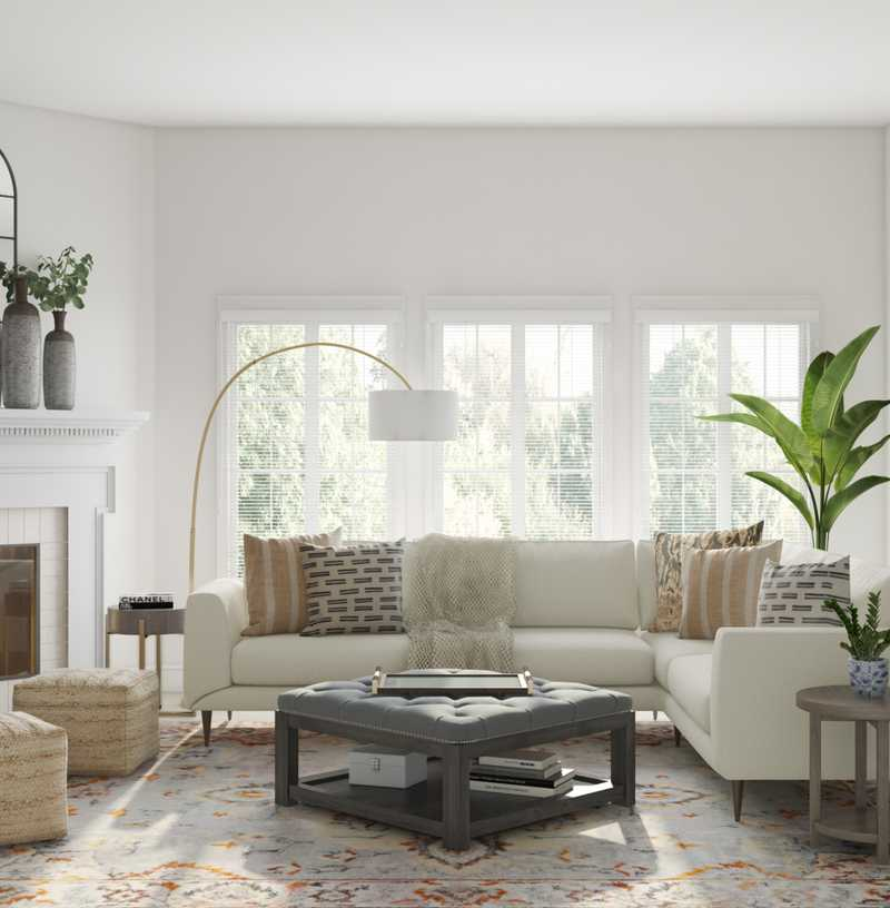 Classic, Farmhouse, Rustic Living Room Design by Havenly Interior Designer Robyn