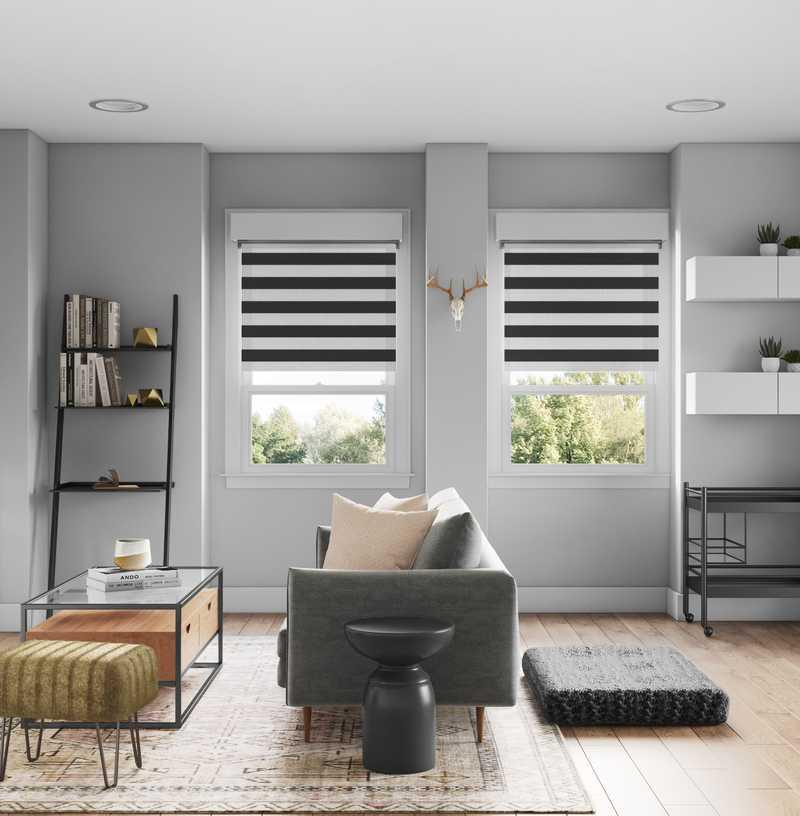 Bohemian, Midcentury Modern, Scandinavian Living Room Design by Havenly Interior Designer Abi
