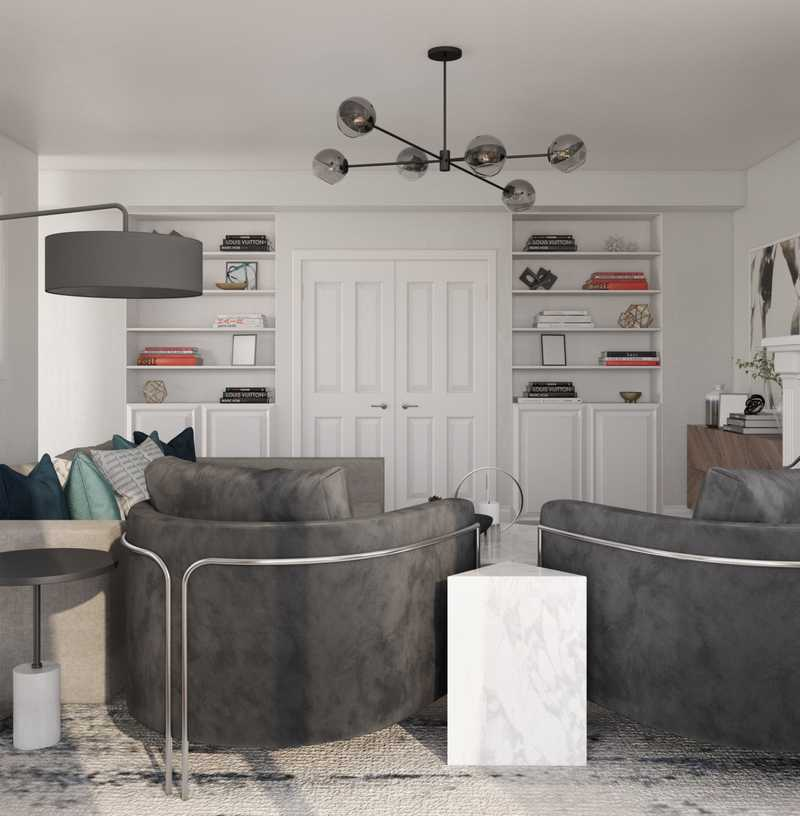 Modern Living Room Design by Havenly Interior Designer Cathrine