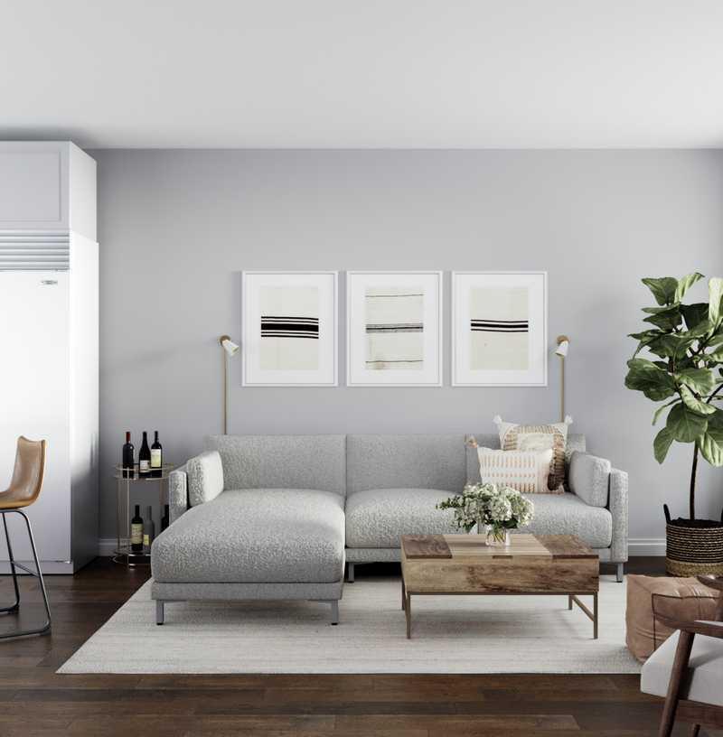 Eclectic, Scandinavian Living Room Design by Havenly Interior Designer Kelcy