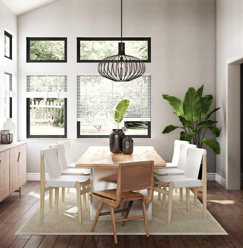 Contemporary, Modern Dining Room Design by Havenly Interior Designer Sophia