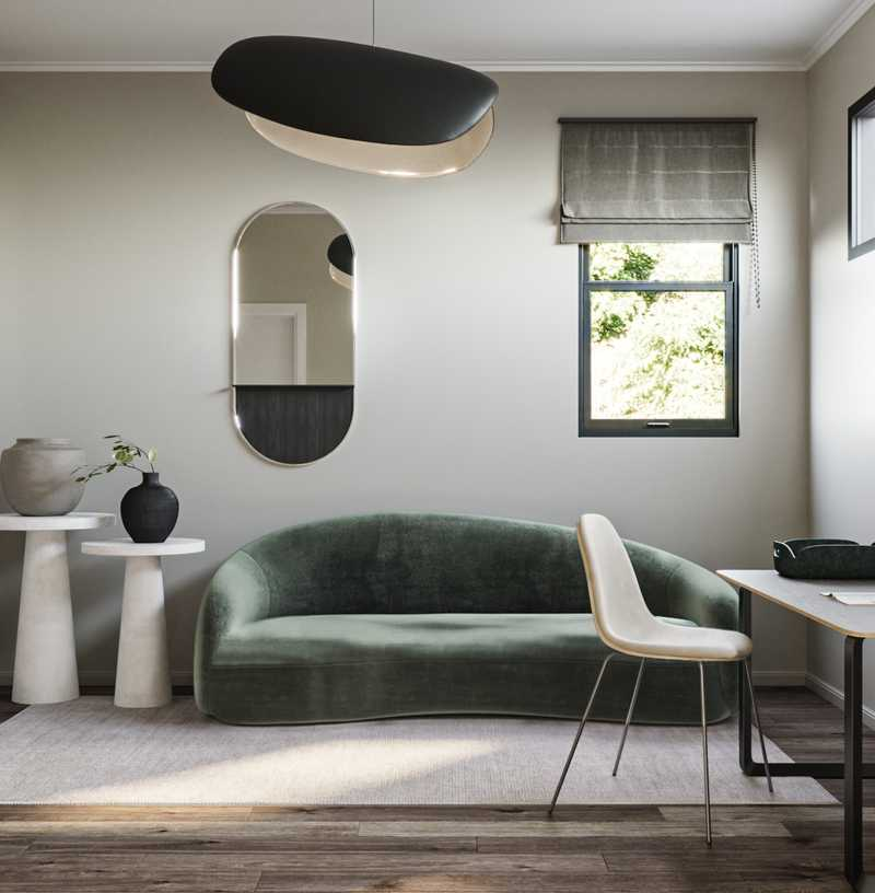 Modern, Minimal Office Design by Havenly Interior Designer Sawyer