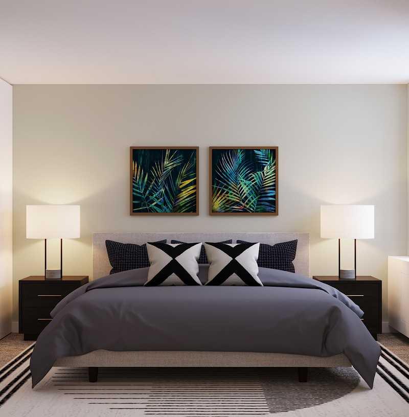 Contemporary, Midcentury Modern, Minimal Bedroom Design by Havenly Interior Designer Kyla
