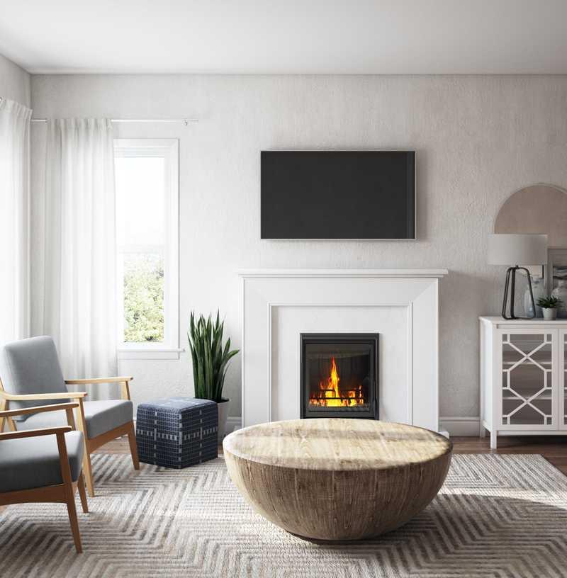 Modern, Scandinavian Living Room Design by Havenly Interior Designer Alexis