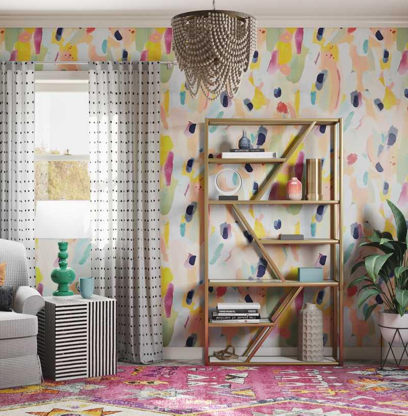 Eclectic, Preppy Office Design by Havenly Interior Designer Ashlyn