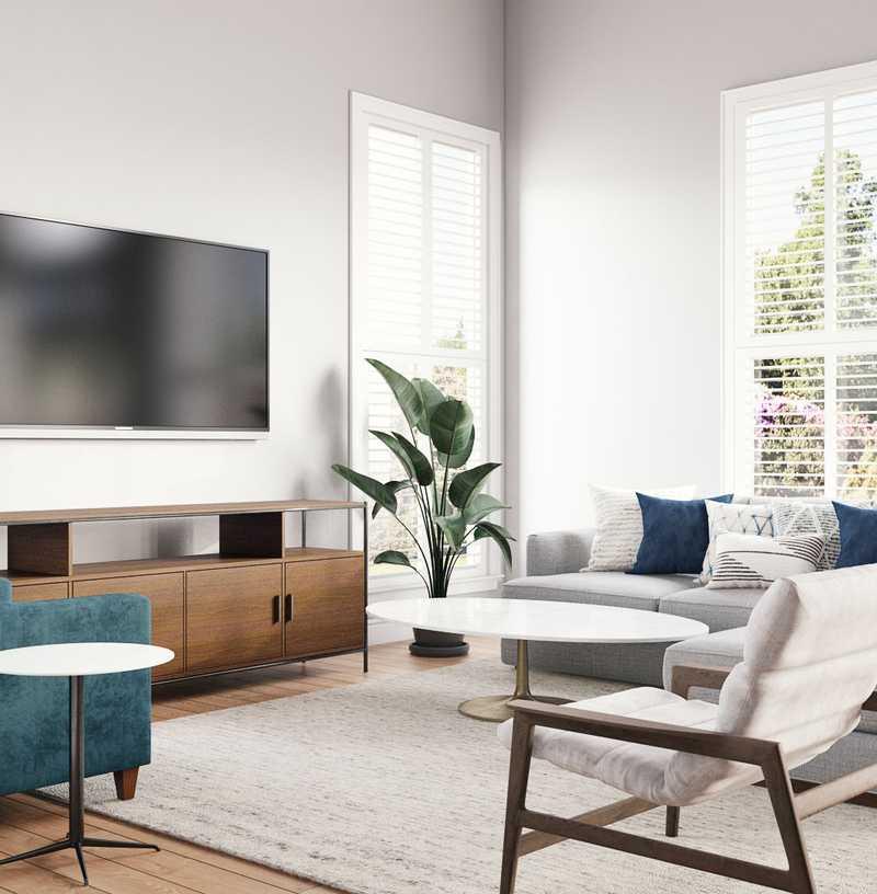 Modern, Transitional, Scandinavian Living Room Design by Havenly Interior Designer Sonia