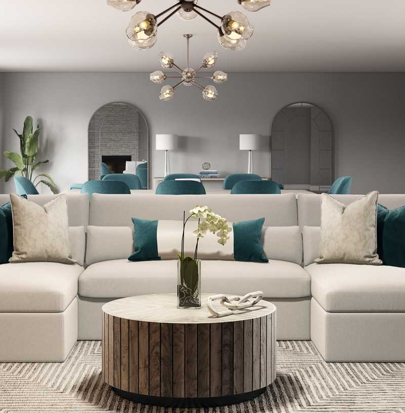 Contemporary, Glam Living Room Design by Havenly Interior Designer Dani