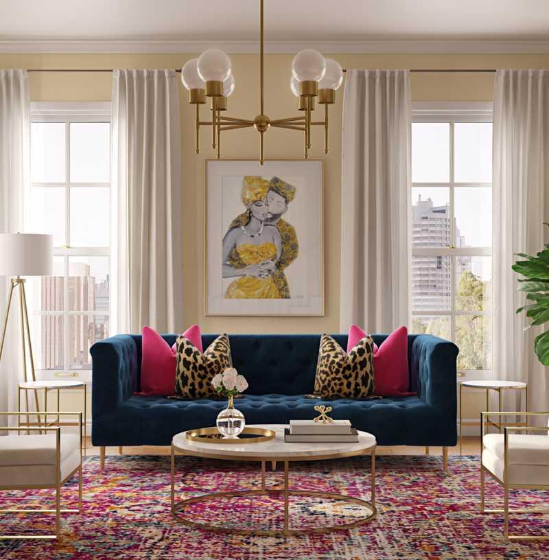 Living Room Design by Havenly Interior Designer Shameika