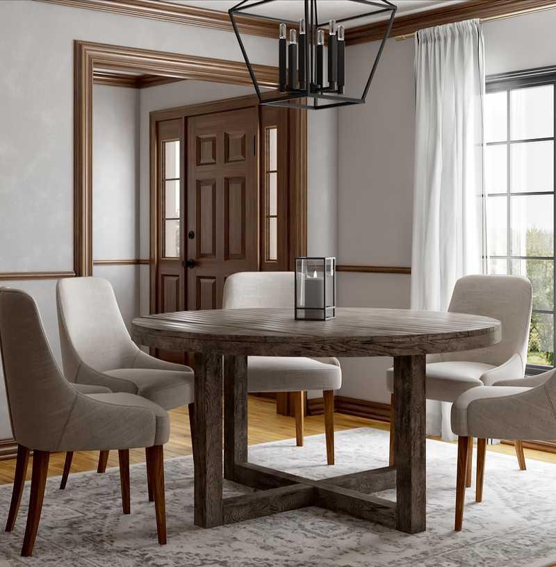 Traditional, Farmhouse Dining Room Design by Havenly Interior Designer Rita