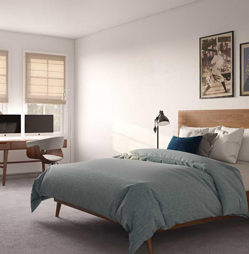 Contemporary, Modern, Midcentury Modern Bedroom Design by Havenly Interior Designer Logan