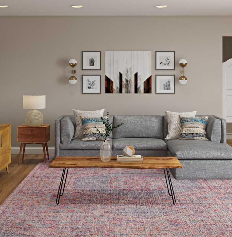 Bohemian Living Room Design by Havenly Interior Designer Haley